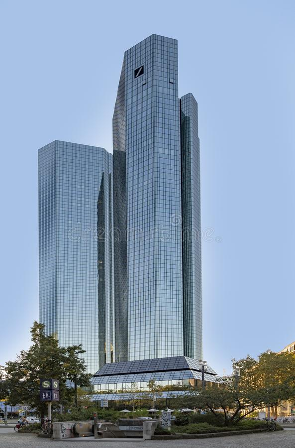 Free Skyscrapers Of Deutsche Bank In Frankfurt Stock Photos - 160594543