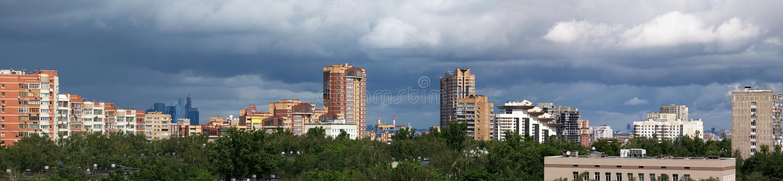 Download Skyscrapers Panorama In Moscow Stock Image - Image of center, residential: 25195251