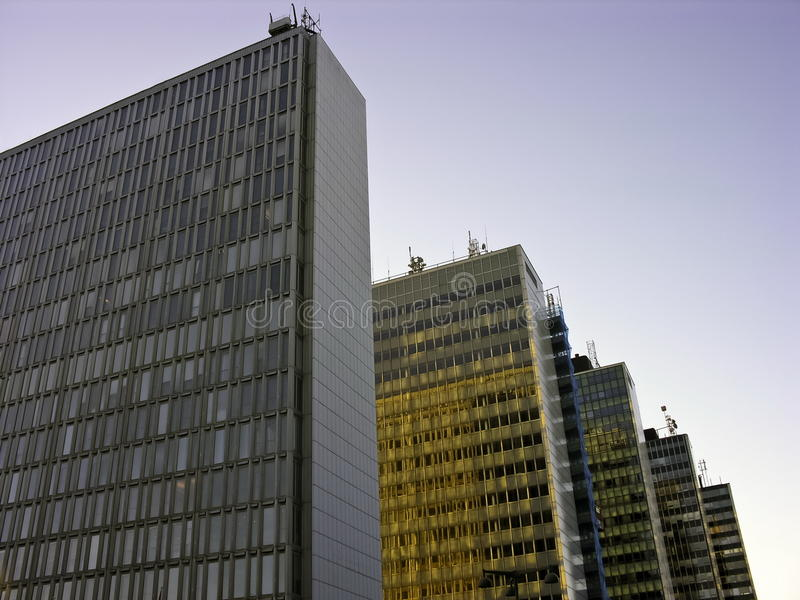 Skyscrapers In A Row Stock Photography