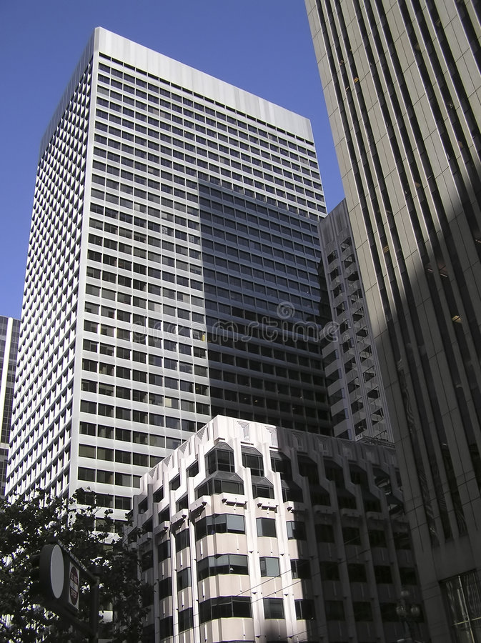 Skyscrapers in San Francisco financial district royalty free stock photo