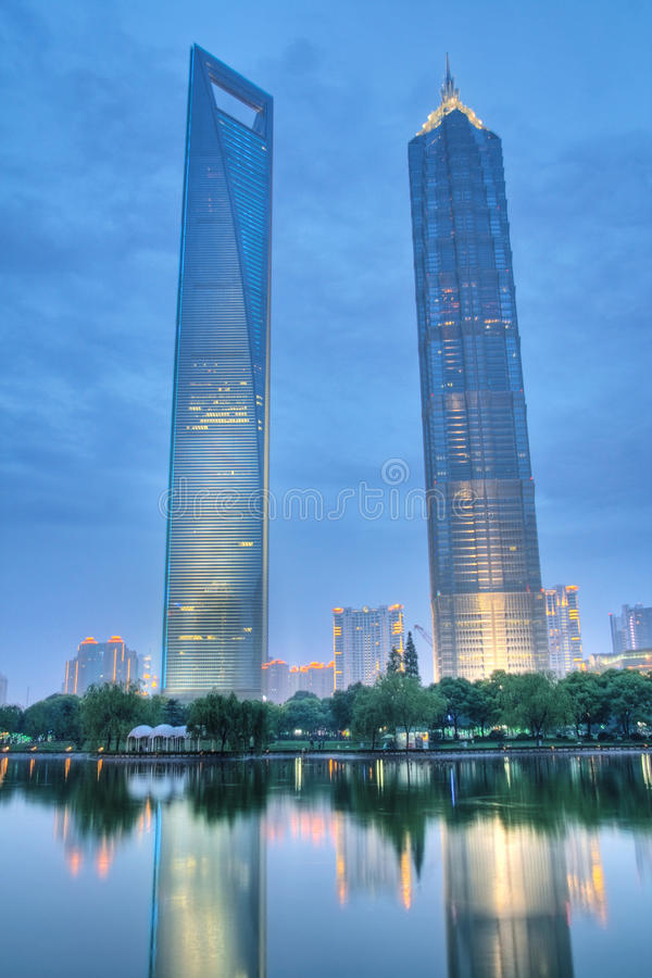 Skyscrapers in shanghai royalty free stock photography
