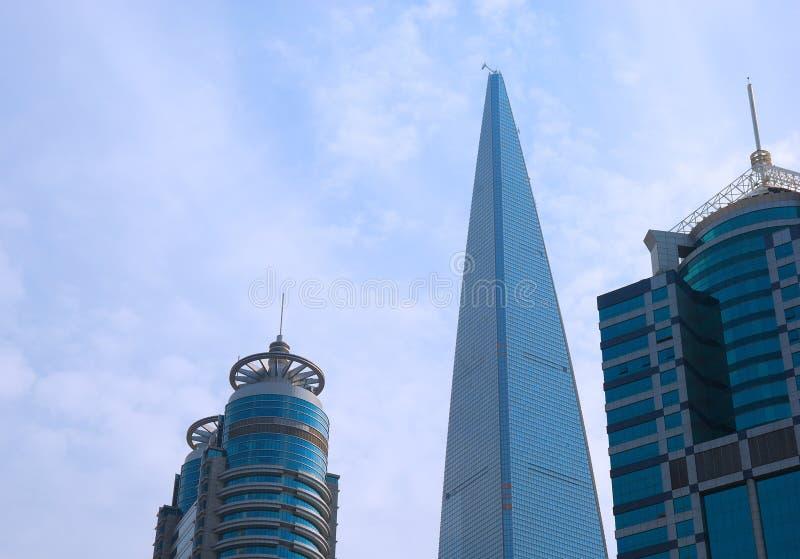Skyscrapers in Shanghai city stock image