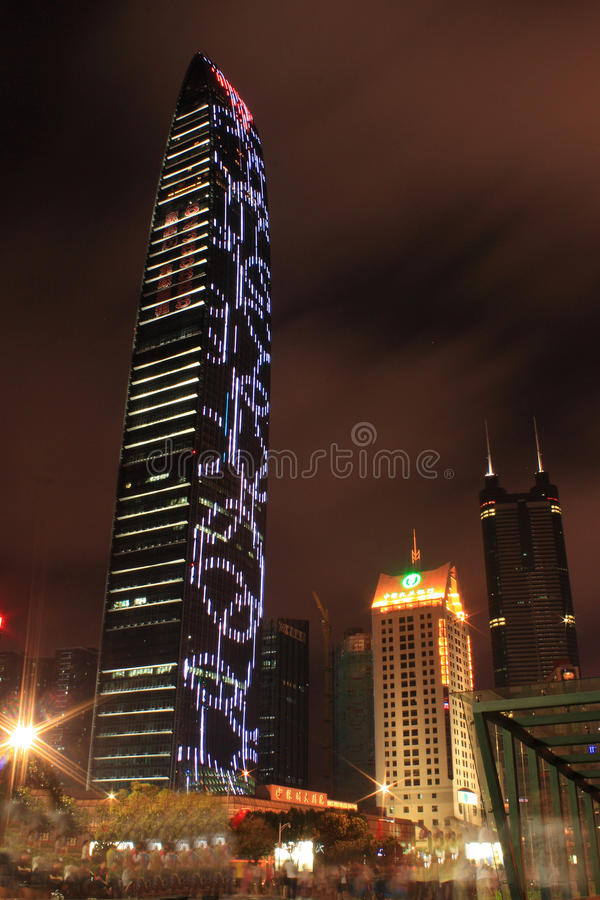 Download Skyscrapers In Shenzhen, China,at Night Editorial Photo - Image: 24578546