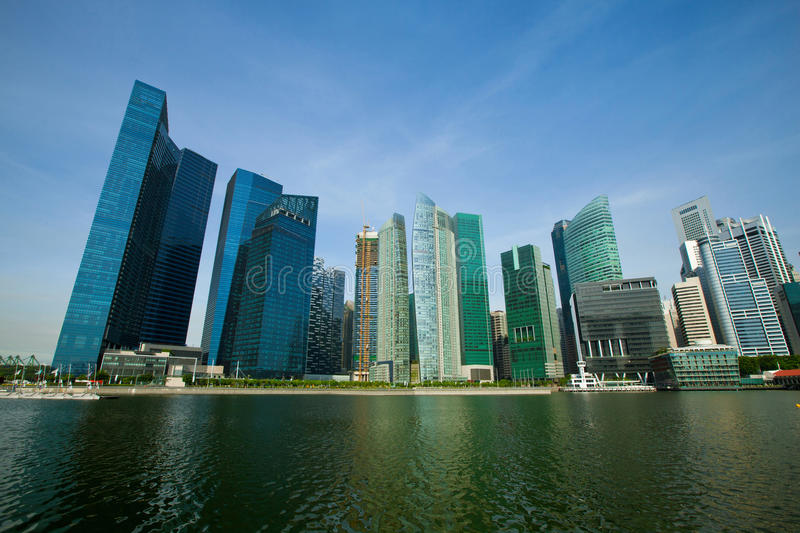 Download Skyscrapers Of Singapore Business District Royalty Free Stock Images - Image: 24356299