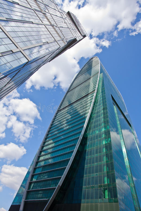 Download Skyscrapers On Sky Background Stock Photo - Image: 26614602