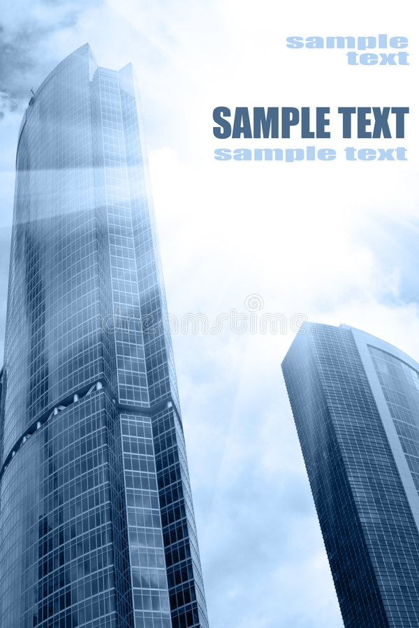Download Skyscrapers and sun glare stock image. Image of large - 7082321
