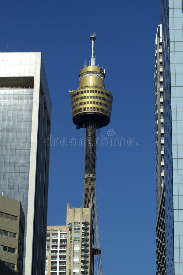 Skyscrapers and sydney tower royalty free stock images