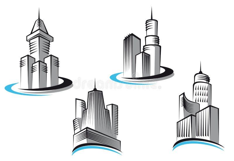 Download Skyscrapers symbols stock vector. Illustration of mascot - 19284827