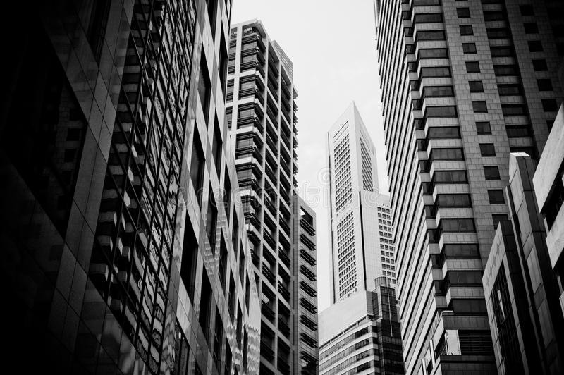 Skyscrapers, typical urban cityscape royalty free stock image