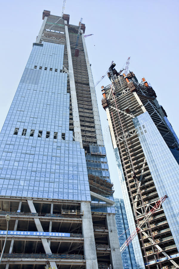 Free Skyscrapers Under Construction In Dalian City Center, China Stock Photography - 91702622