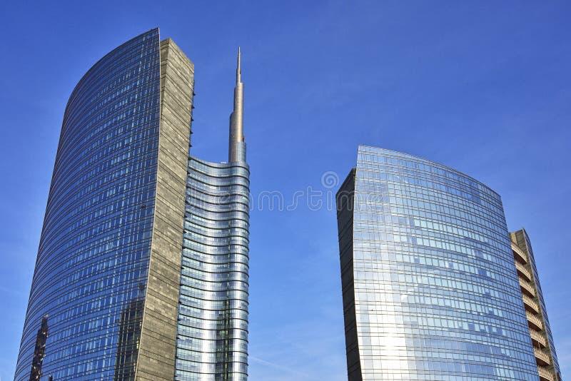 Skyscrapes in Milaan, Italië stock foto's