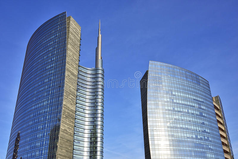 Download Skyscrapes in Milan, Italy stock image. Image of daylight - 87718413
