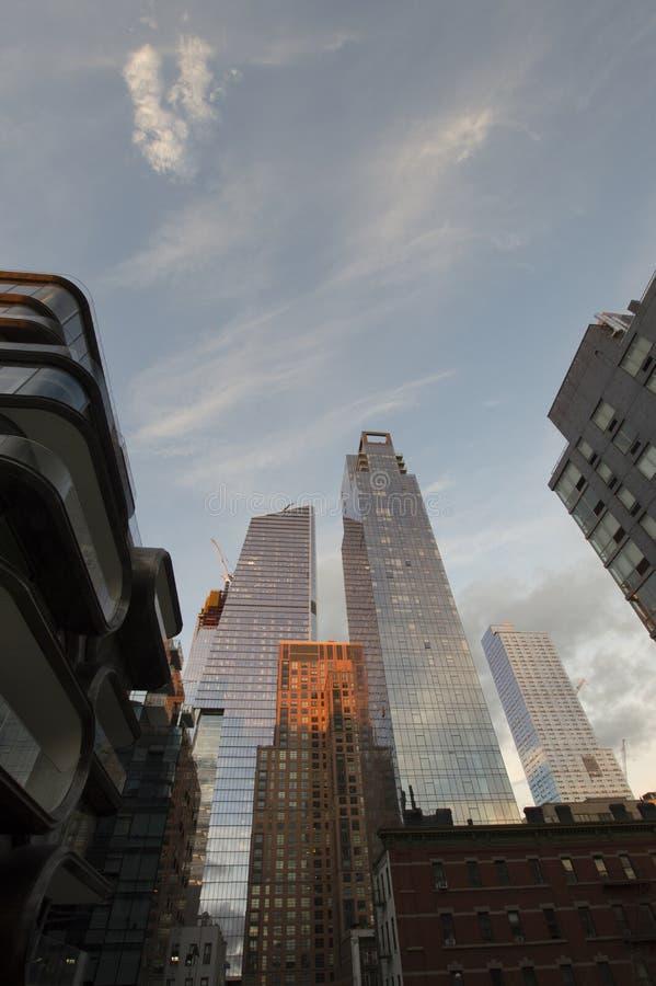 Skyscrapper на Highline в Нью-Йорке стоковые фото