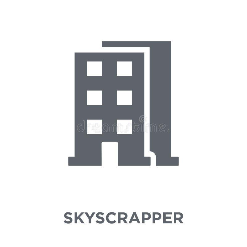 Skyscrapperpictogram van inzameling stock illustratie