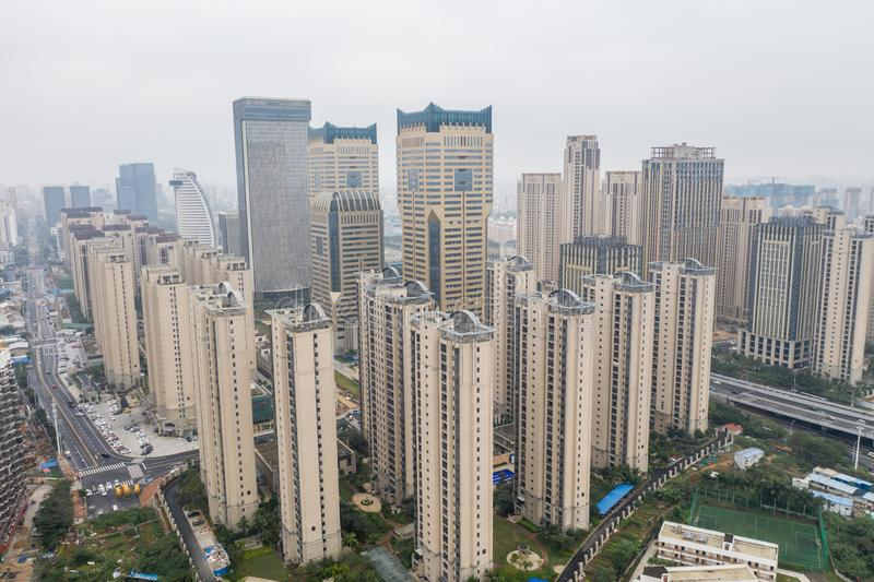 Asian city aerial stock image
