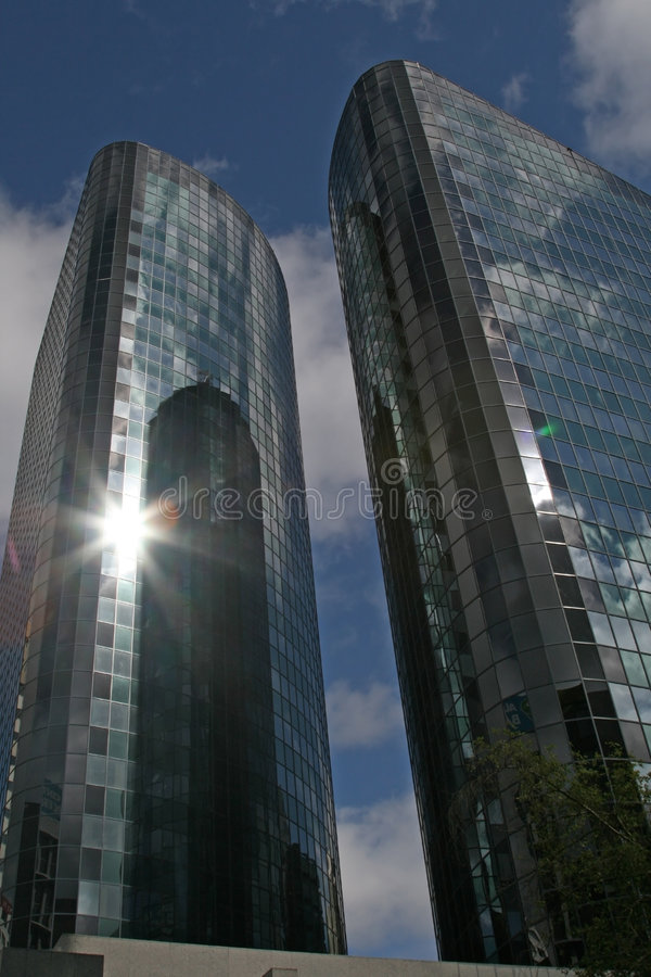 skyscrappers szklanych zdjęcia stock