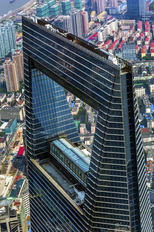 Skyskrapa Liujiashui Shanghai Kina för finansiell mitt för värld royaltyfri fotografi