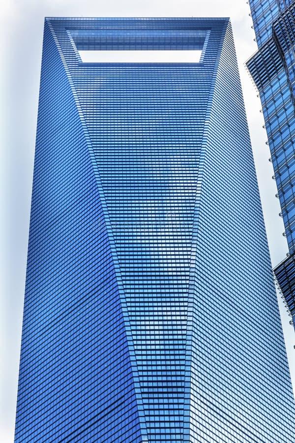 Skyskrapa Liujiashui Shanghai Kina för finansiell mitt för värld royaltyfri bild