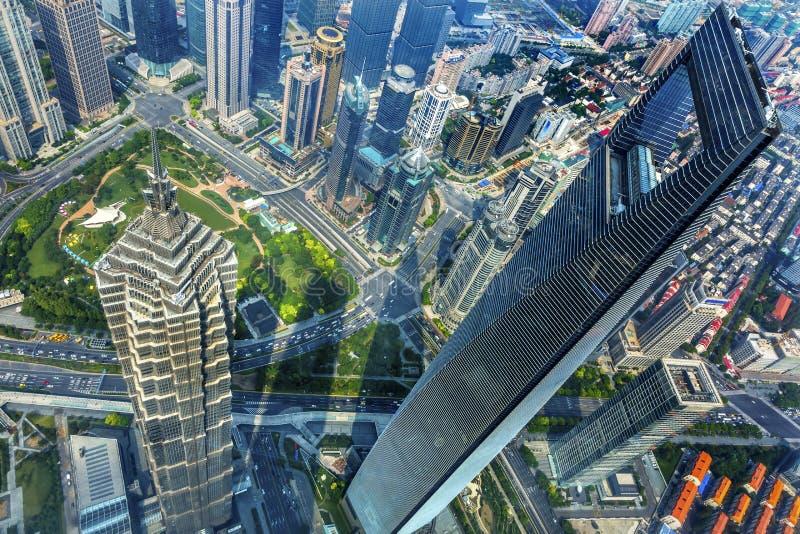 Skyskrapa Liujiashui Shanghai Kina för finansiell mitt för värld arkivfoton