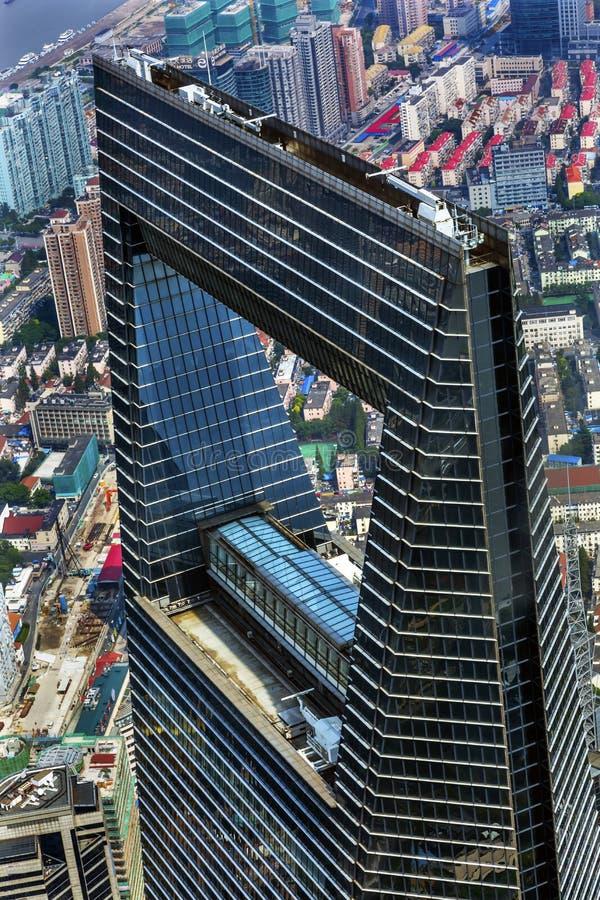 Skyskrapa Liujiashui Shanghai Kina för finansiell mitt för värld arkivbild