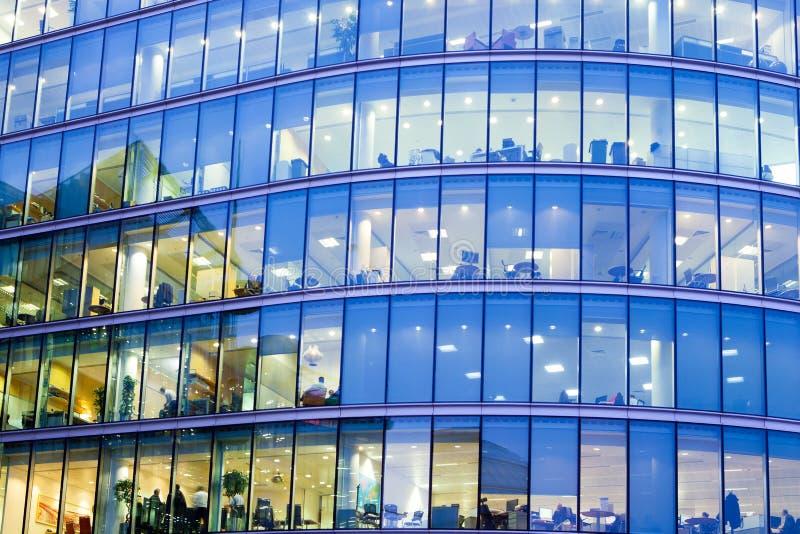 Skyskrapaaffärskontor, företags byggnad i London royaltyfri bild