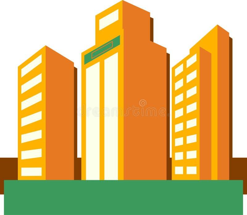 skyskrapor vektor illustrationer