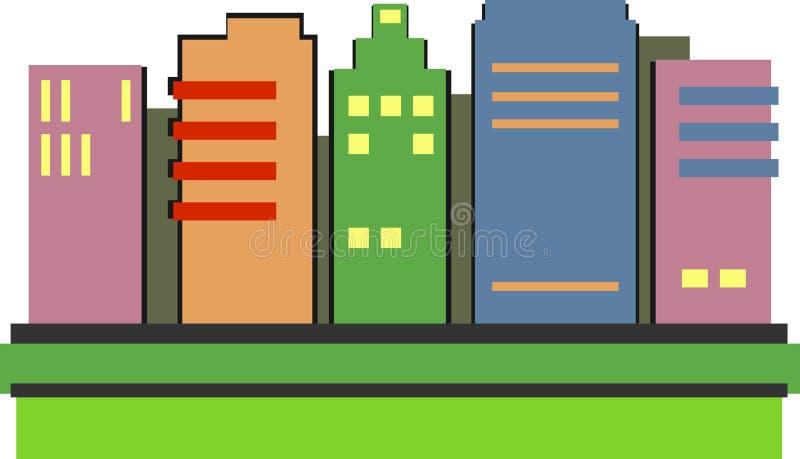 skyskrapor stock illustrationer