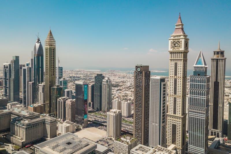 Skyskrapor av Dubai arkivbild