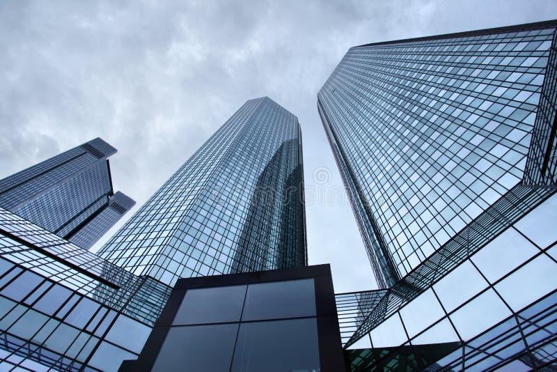 Skyskrapor av Frankfurt arkivbild