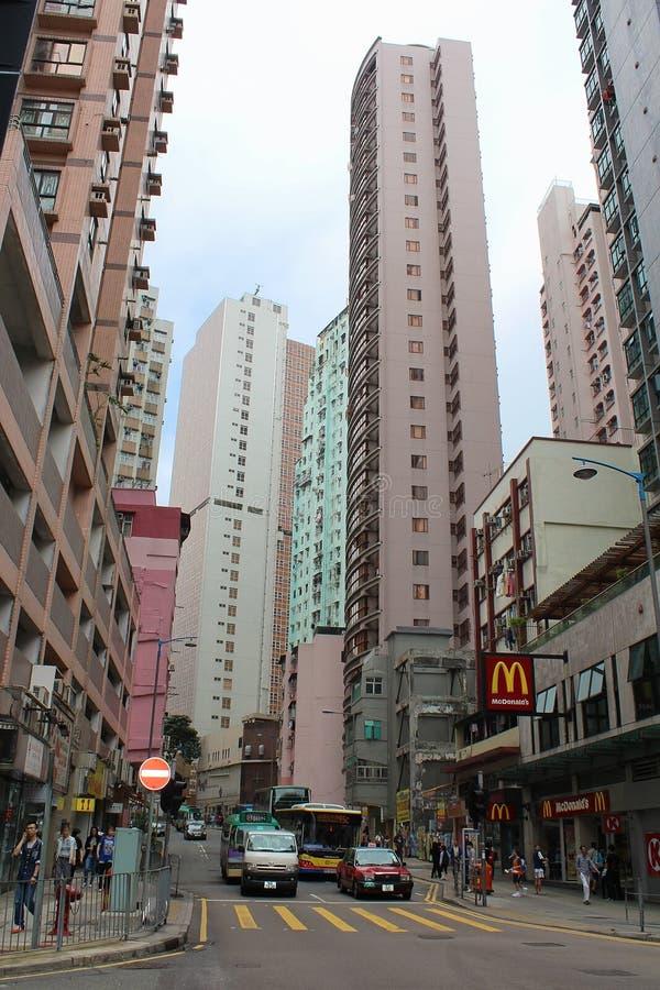Skyskrapor i Hong Kong, Aberdeen område royaltyfri foto