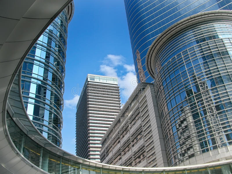 Skyskrapor i i stadens centrum Houston Texas royaltyfri foto