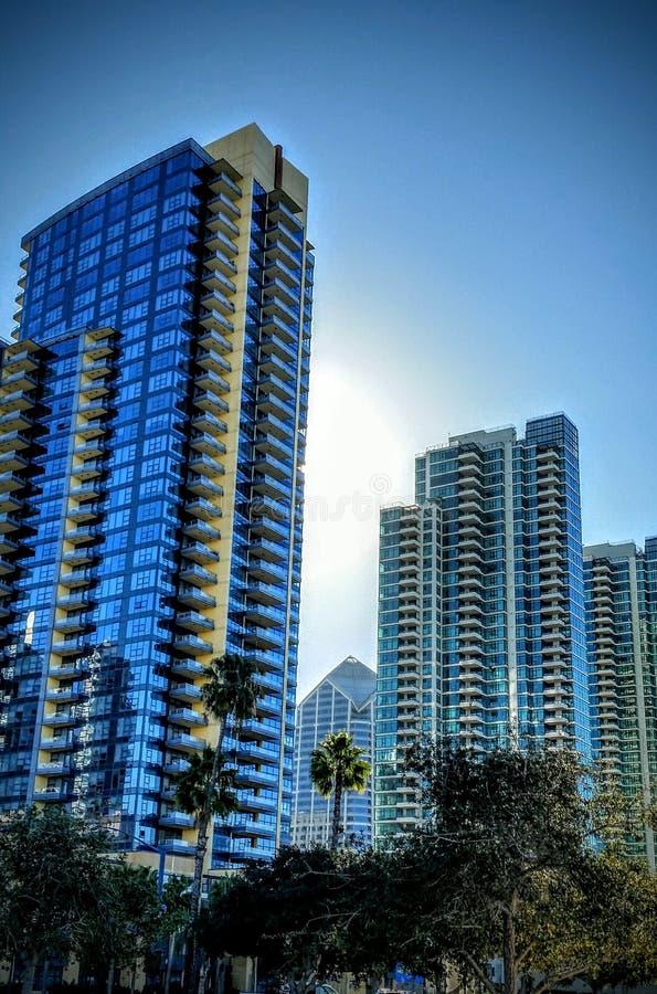 Skyskrapor i San Diego California royaltyfri bild