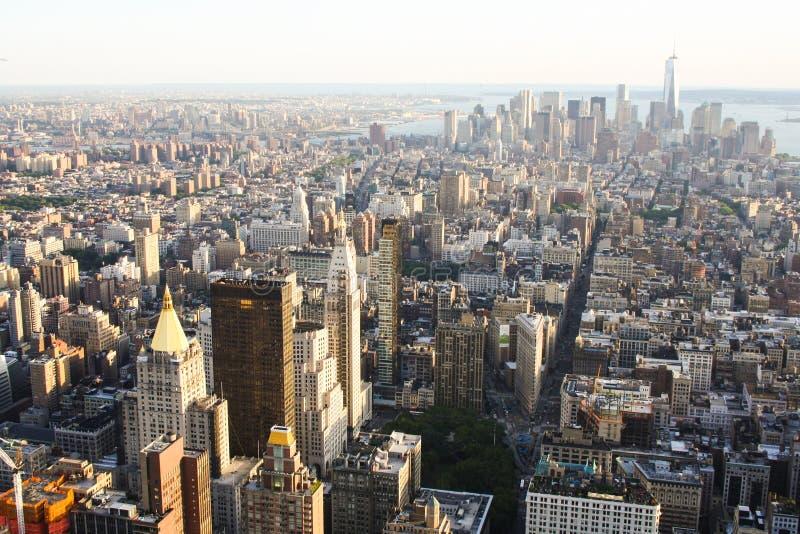 Skyskrapor NYC royaltyfria bilder