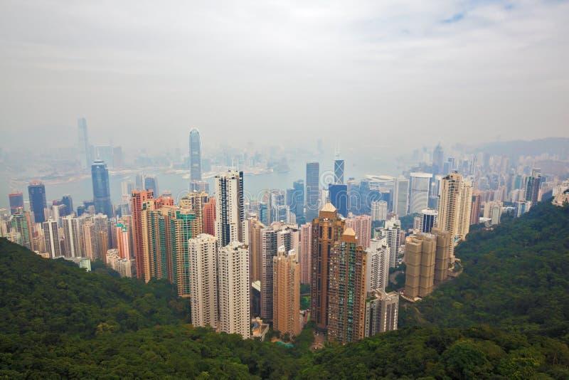 Skyskrapor och hav royaltyfri fotografi