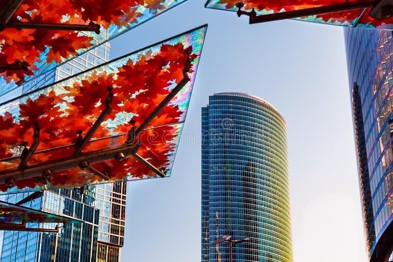 skyskrapor Område av moderna byggnader arkivfoton