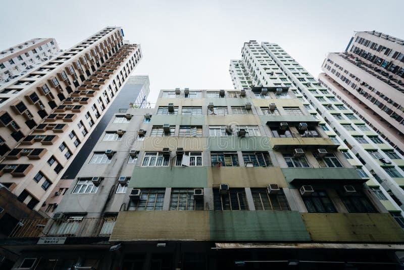 Skyskrapor på Ap Lei Chau, i Hong Kong, Hong Kong royaltyfria foton
