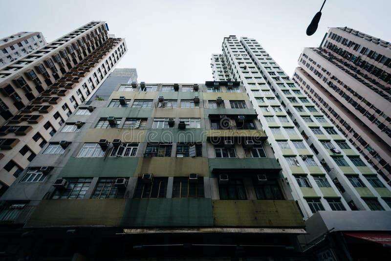 Skyskrapor på Ap Lei Chau, i Hong Kong, Hong Kong royaltyfri fotografi