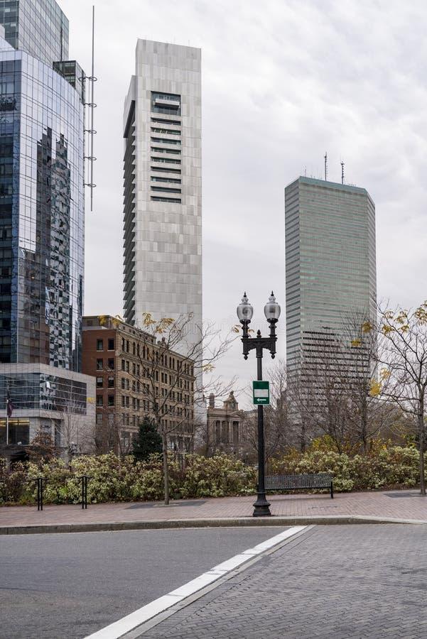 Skyskrapor på det Boston centret, Massachusetts arkivbild