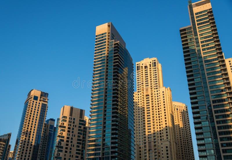 Skyskrapor på soluppgång royaltyfri fotografi