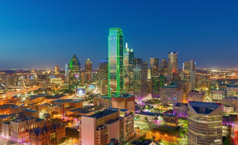 Skyskrapor Stad Av Dallas Texas Usa Fotografering F 246 R