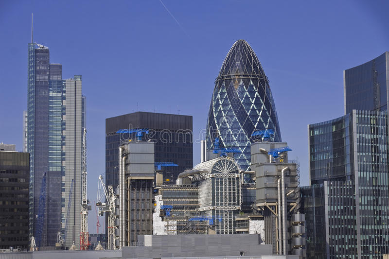 skysrapers london стоковые изображения