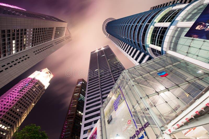 Skysrapers w Singapur zdjęcie stock