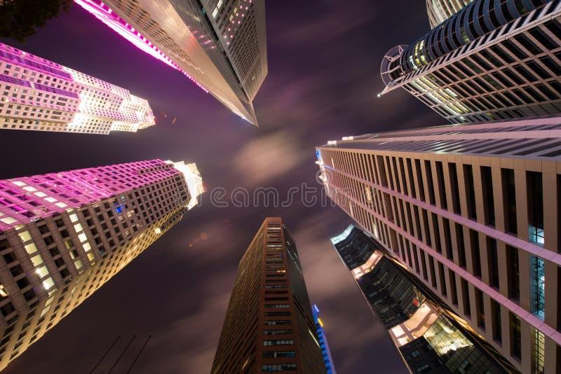 Skysrapers w Singapur obraz stock