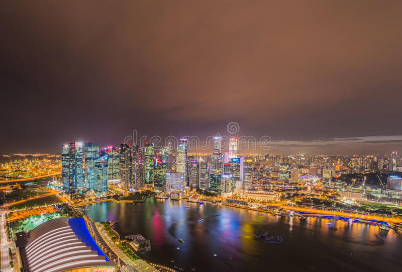 Skysrapers w Singapur zdjęcia stock