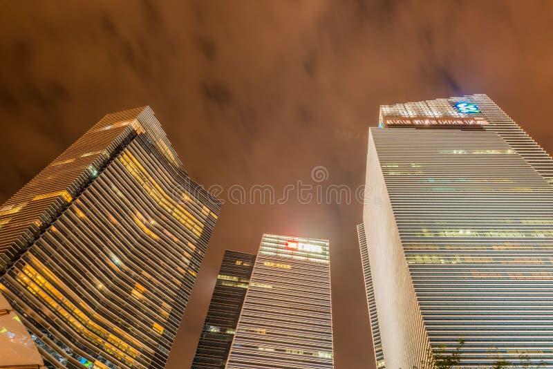 Skysrapers w Singapur zdjęcia royalty free