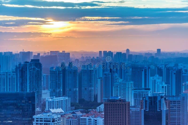 Skysrapers w Singapur obraz royalty free