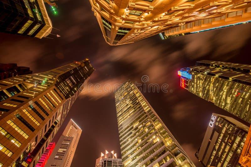 Skysrapers w Singapur podczas zdjęcia stock