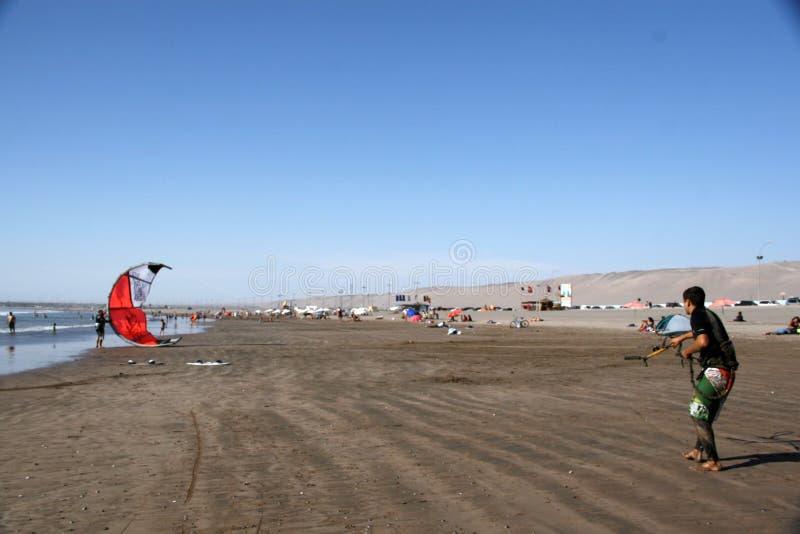 Skysurf Arica fotografía de archivo
