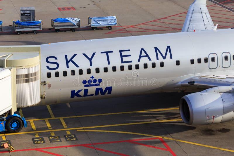 Skyteam KLM nivådetalj arkivbilder