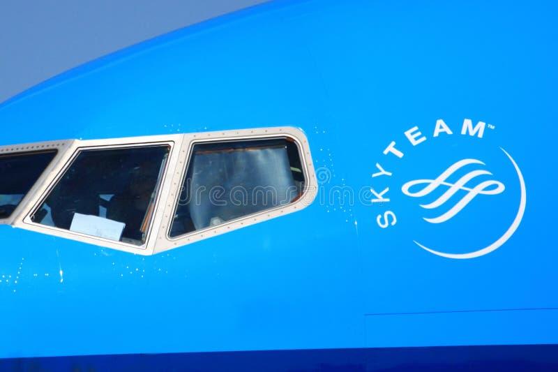 Skyteam logodetalj royaltyfri bild